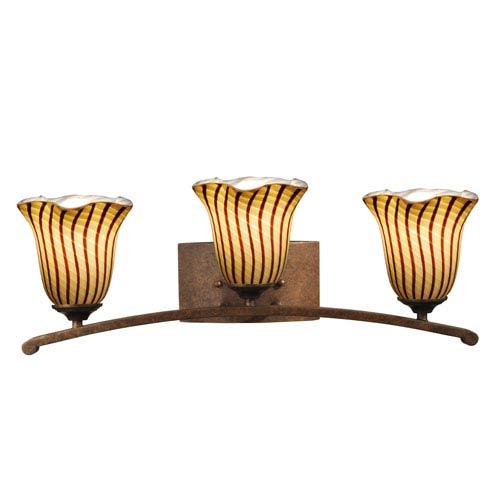 Antique Golden Bronze 24-Inch Three-Light Valley Vanity Lights