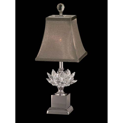 Polished Nickel 7-Inch One-Light Lucinda Crystal Accent Lamp