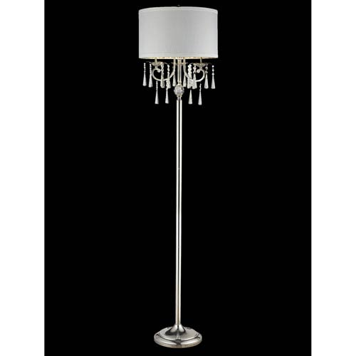 Drum shade crystal floor lamp bellacor dale tiffany polished chrome 17 inch one light crystal feather floor lamp aloadofball Image collections