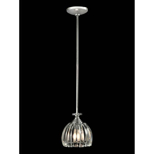 Polished Chrome 7-Inch One-Light San Bruno Mini Pendant