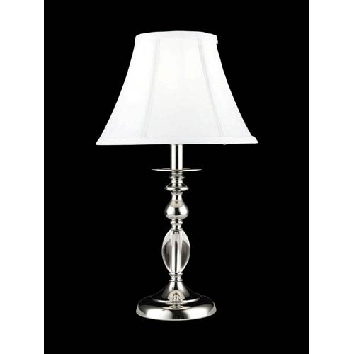 Polished Chrome Jane Crystal Table Lamp