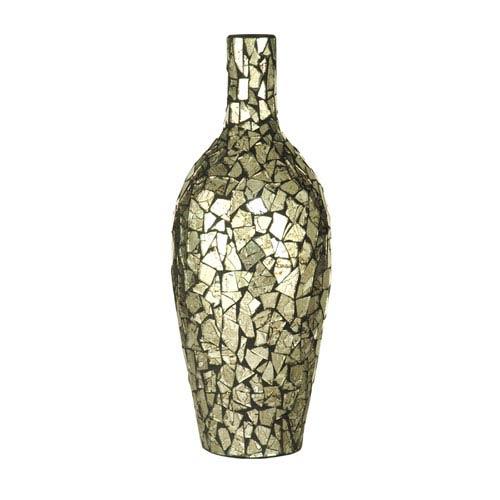 Dale Tiffany Silver 16-Inch Vase