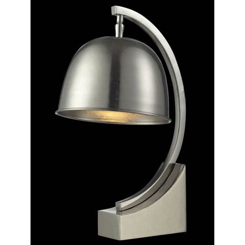 Polished Nickel 8-Inch One-Light Mulisa Desk Lamp