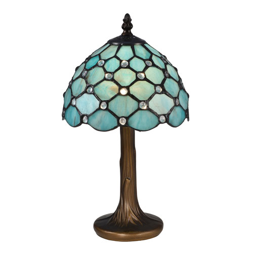 Castle Point Antique Bronze and Tiffany Accent Lamp