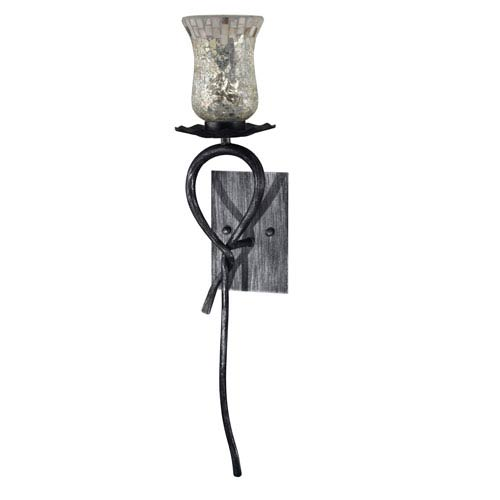 Hunters Silver and Black LED Wall Sconce