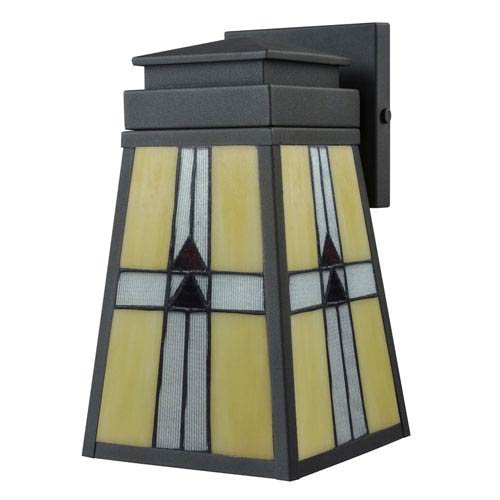 Barkley Mica Black and Tiffany Outdoor Wall Sconce