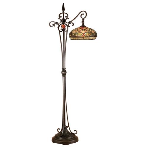 Antique Golden Sand 22-Inch One-Light Briar Dragonfly Downbridge Floor Lamp