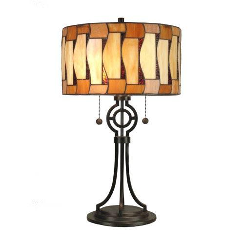 Dale Tiffany Addison Antique Bronze Table Lamp