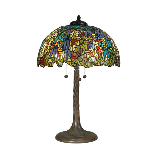 Antique Verde 29-Inch Tiffany Table Lamp