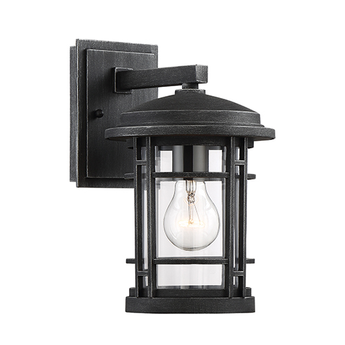 Barrister Weathered Pewter Seven-Inch One-Light Wall Lantern