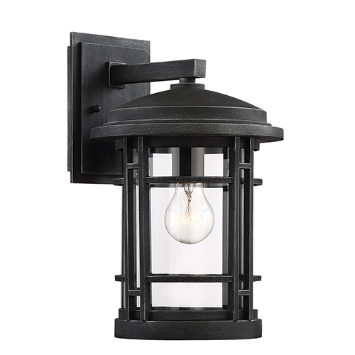 Barrister Weathered Pewter One-Light Wall Lantern