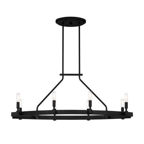 Fiora Black Eight-Light Chandelier