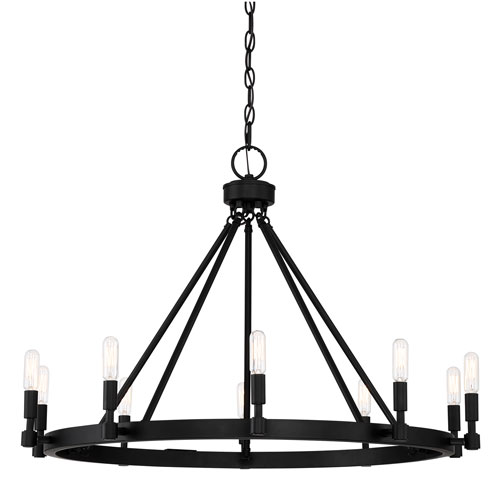 Fiora Black 10-Light Chandelier