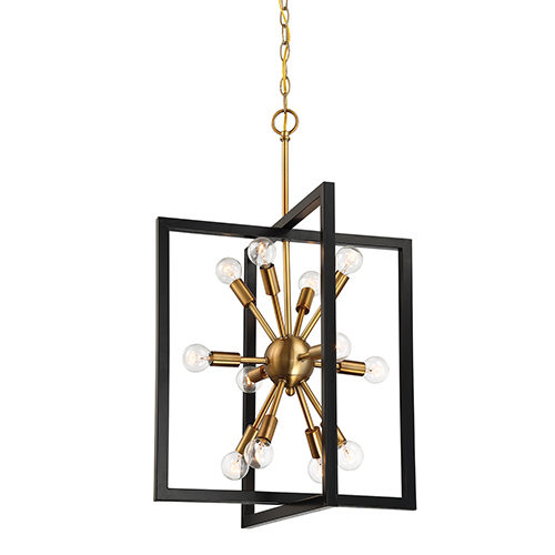 Xander Aged Warm Brass 12-Light Pendant