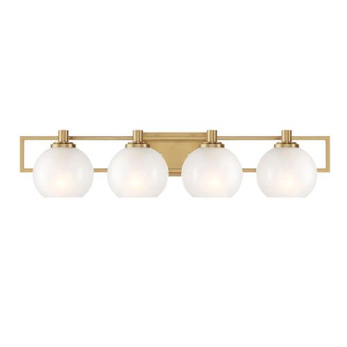 Cowen Brushed Gold Four-Light Bath Vanity