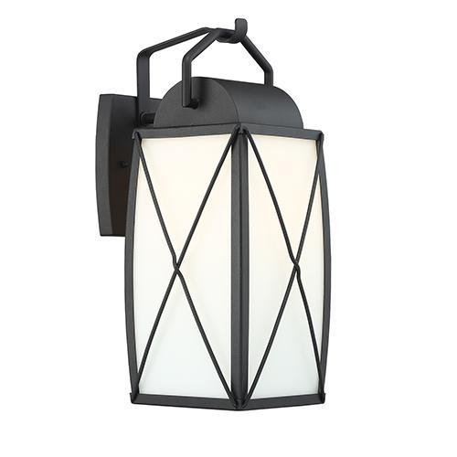 Fairlington Black One-Light Wall Lantern