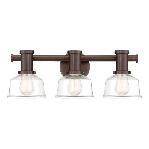 Carson Satin Copper Bronze Three-Light Bath Vanity