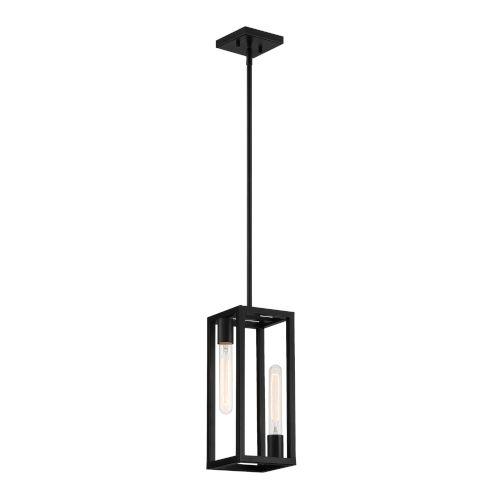 Urban Oasis Matte Black Two-Light Mini Pendant