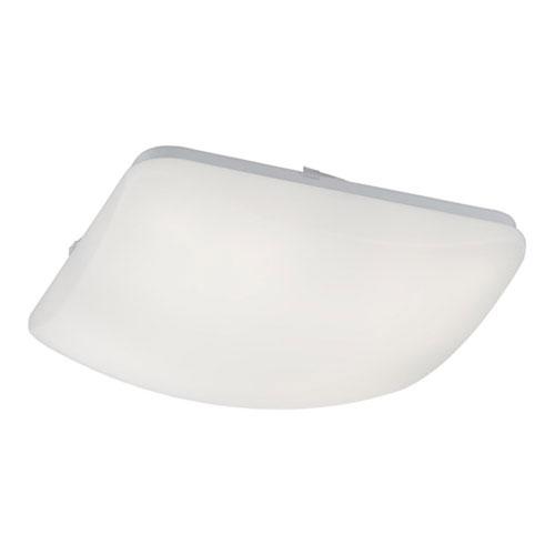 White 14-Inch LED Square Flush Mount