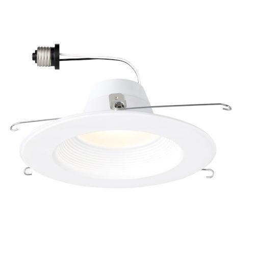 White 10W 3000K 680 Lumen LED Recessed Light