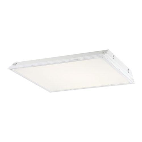 White 24-Inch Prismatic Lens LED Troffer Light