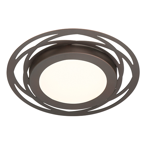 Edge Lit Satin Bronze LED Flushmount