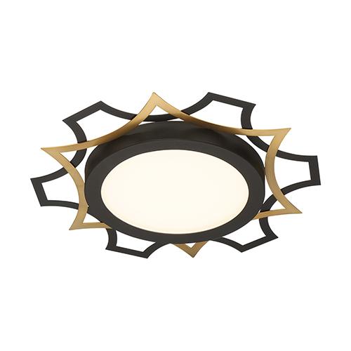 Edge Lit Black LED Flush Mount
