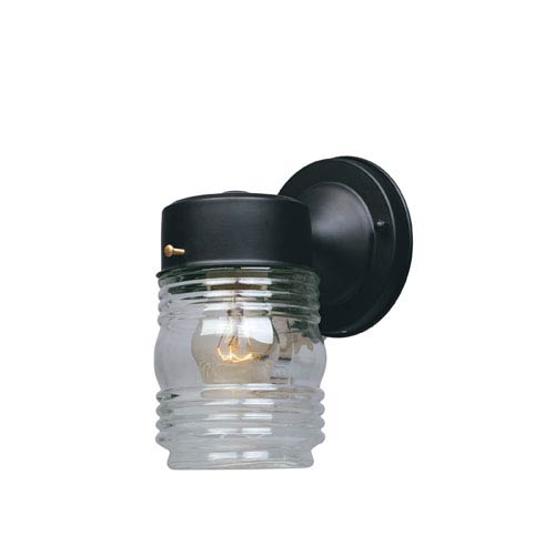 Designers Fountain Porch Black Jelly Jar Wall Light