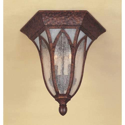 Berkshire Burnished Antique Copper Two-Light Outdoor Flush Mount