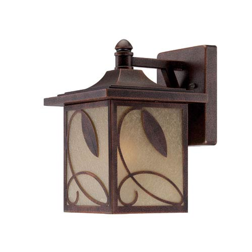 Designers Fountain Devonwood Flemish Copper Three-Light Wall Lantern