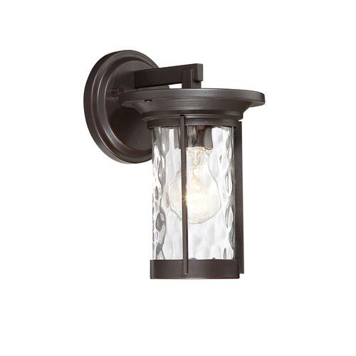Designers Fountain Brookline Satin Bronze One-Light Outdoor Wall Lantern