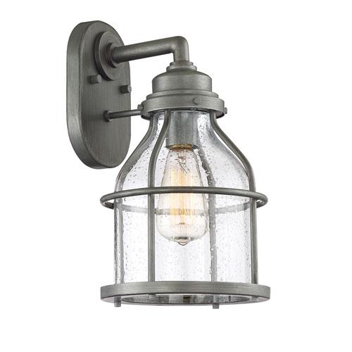 Designers Fountain Brensten Weathered Iron One-Light Outdoor Wall Lantern