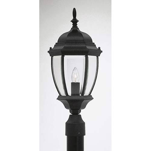 Tiverton Black One-Light Outdoor Post Mounted Light