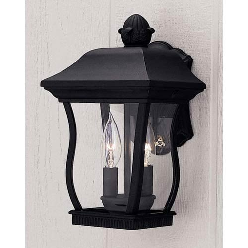 Chelsea Black Two-Light Outdoor Wall Mounted Light