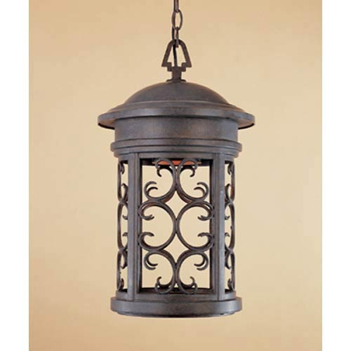 Designers Fountain Ellington Mediterranean Patina One Light Dark Sky Outdoor  Pendant