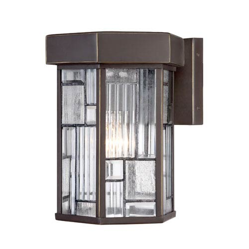 Designers Fountain Kingsley Aged Bronze Patina One-Light Wall Lantern