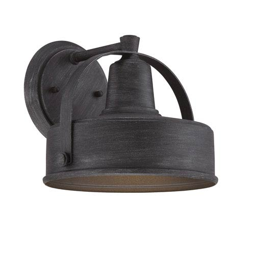 Portland-DS Weathered Pewter 9-Inch One-Light Outdoor Wall Lantern