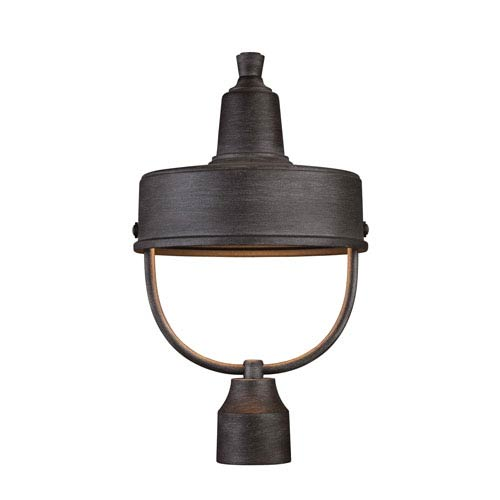 Portland-DS Weathered Pewter 11-Inch One-Light Outdoor Post Mount