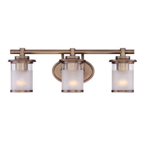 Designers Fountain Essense Old Satin Brass Three-Light Vanity