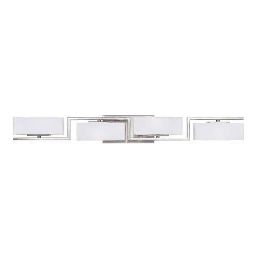 Meridian Satin Platinum Four-Light Bath-Fixture
