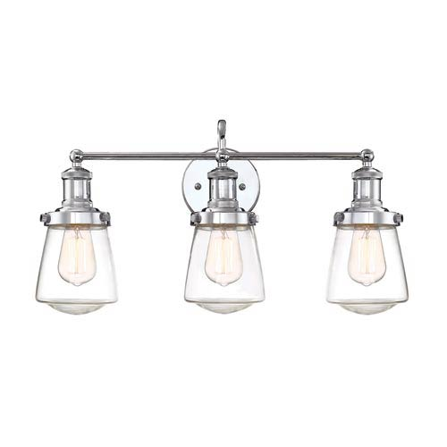 Taylor Chrome Three-Light Bath Light