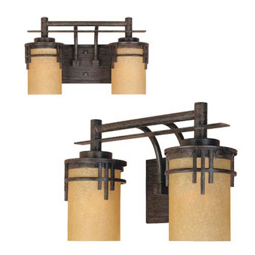 Mission Ridge Warm Mahogany Two-Light Bath Fixture