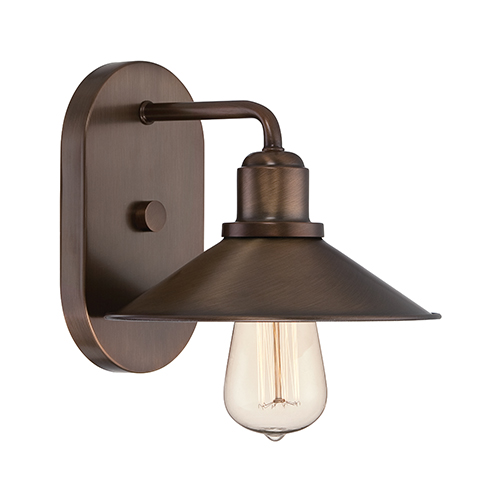 Designers Fountain Newbury Station Old Satin Brass One-Light Wall Sconce