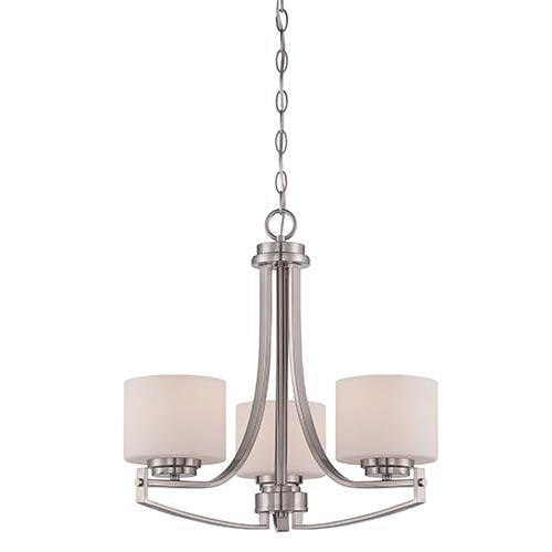 Axel Satin Platinum Three-Light Mini Chandelier