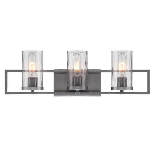 Elements Charcoal Three-Light Bath Bar