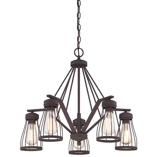 Brooklyn Bronze Five-Light Chandelier