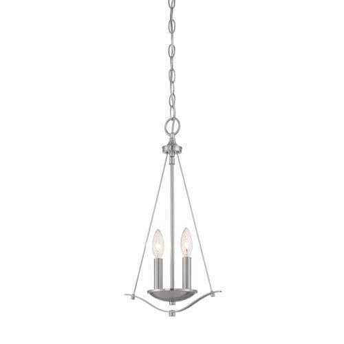 Cassina Satin Platinum Two-Light Mini Pendant