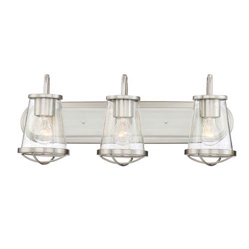 Darby Satin Platinum Three-Light Bath Light