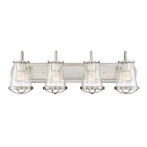 Darby Satin Platinum Four-Light Bath Light