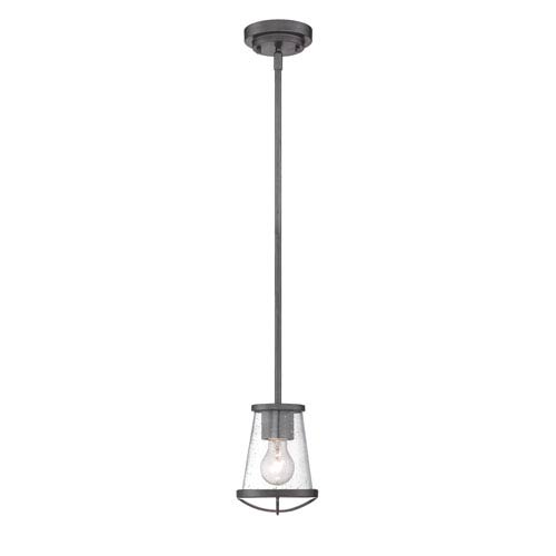 Darby Weathered Iron One-Light Mini Pendant